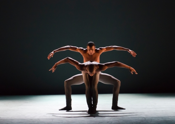 Ailey II's Christopher R. Wilson and Jacoby Pruitt in Jae Man Joo's Circular. Photo by Kyle Froman_1292